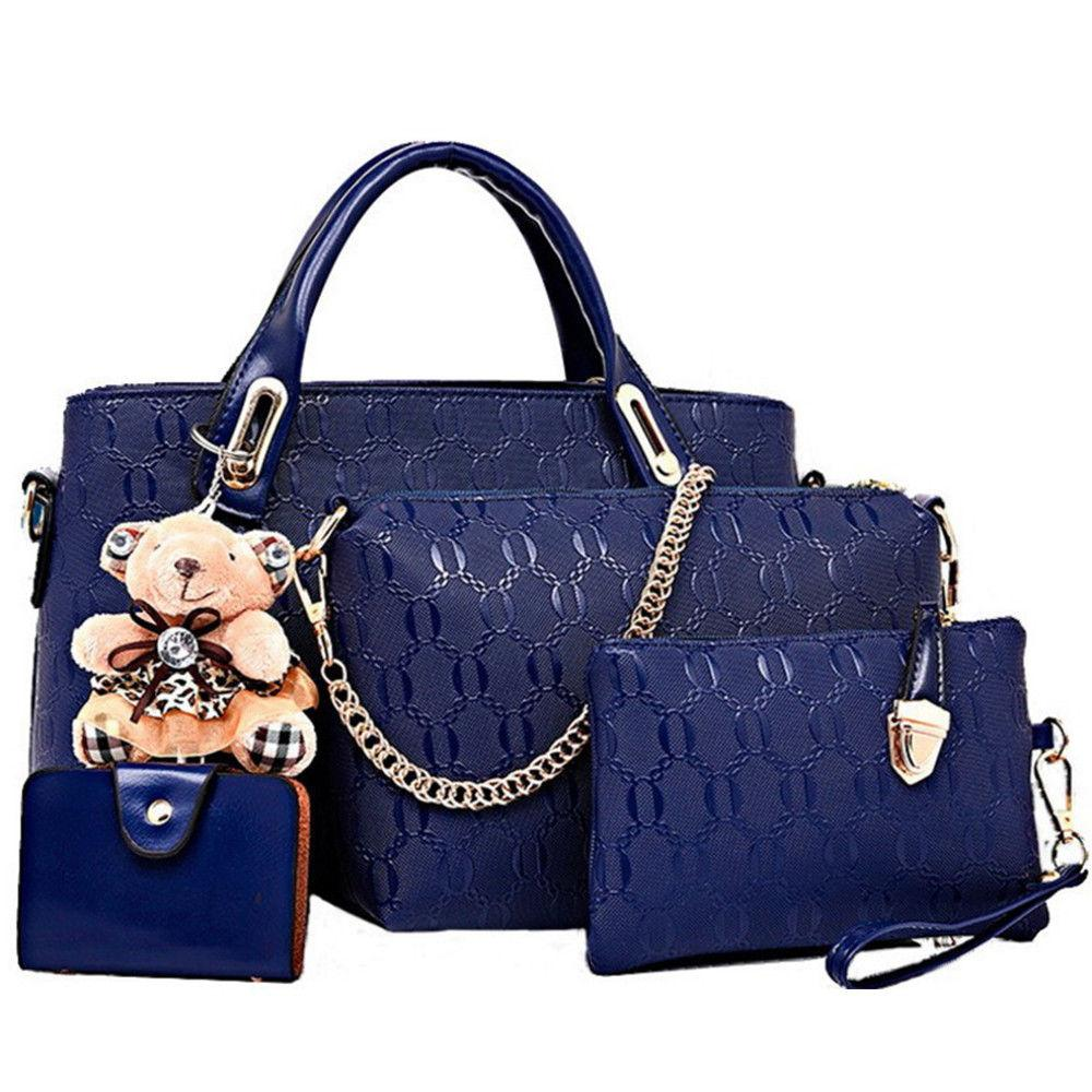 5Pcs/Set Women Lady Handbags Messenger Shoulder Bags Tote