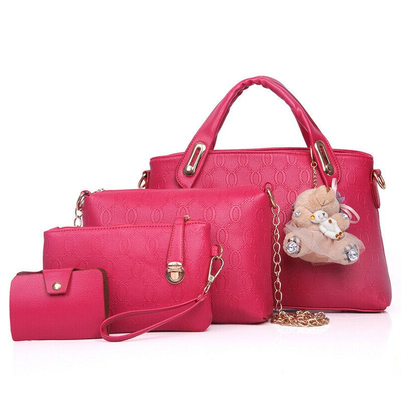 5Pcs/Set Lady Handbags Tote Satchel Purse