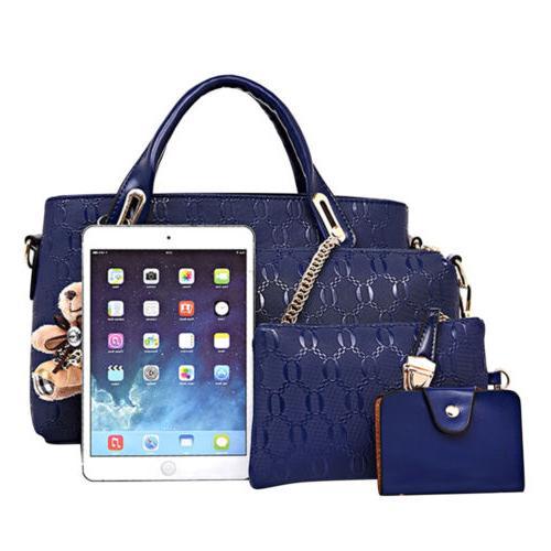 5Pcs/Set Leather Handbags Tote Satchel Purse