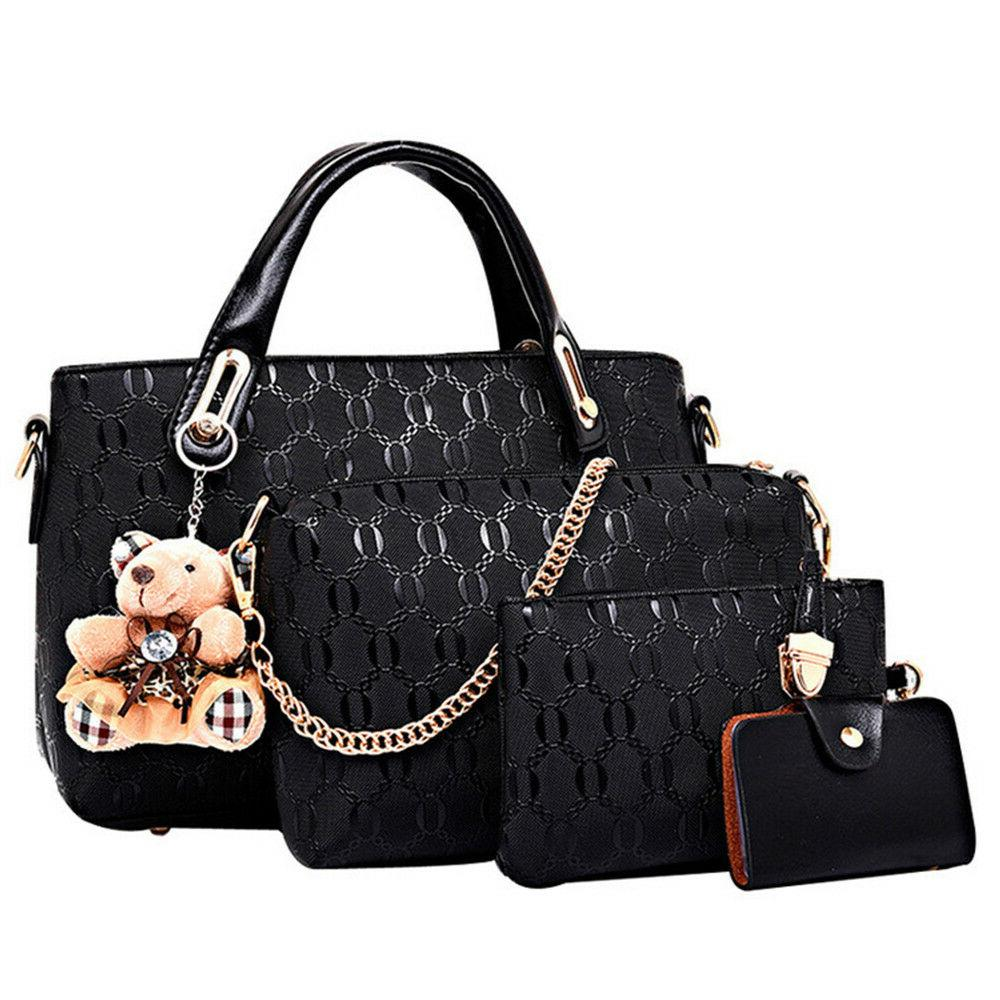 5pcs set women lady leather handbags messenger