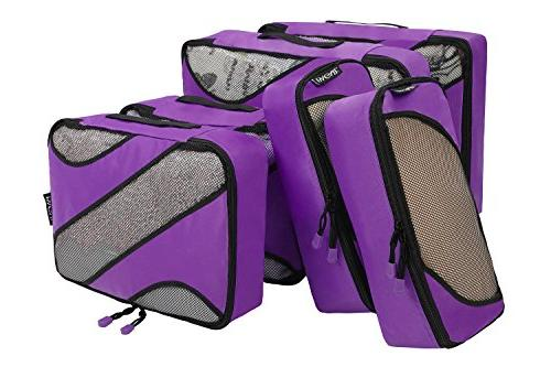 6 Various Packing Organizers Purple