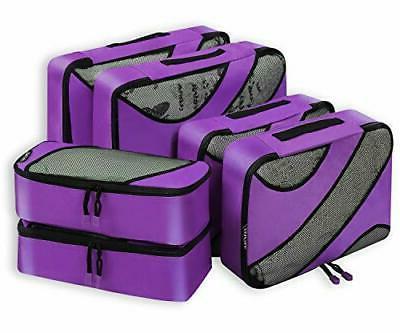 6 set packing cubes 3 various sizes