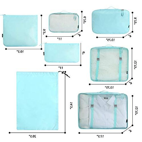 BAGAIL 7-Pcs Luggage Packing Organizers Packing for Travel Accessories