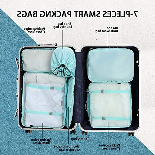 BAGAIL 7-Pcs Lightweight Luggage Packing Organizers for