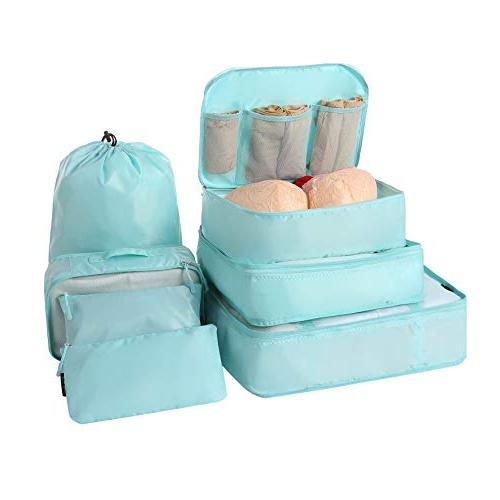 BAGAIL 7-Pcs Lightweight Luggage Packing Organizers for Travel Accessories