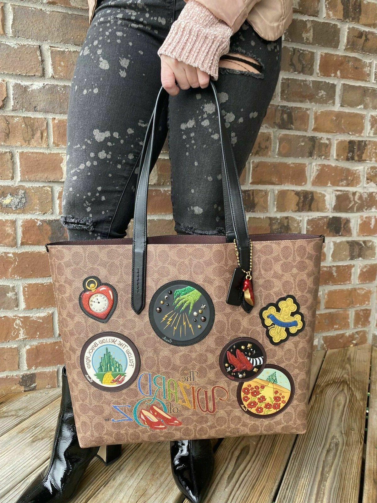 Coach Wizard Oz Highline Bag BLACK Patches
