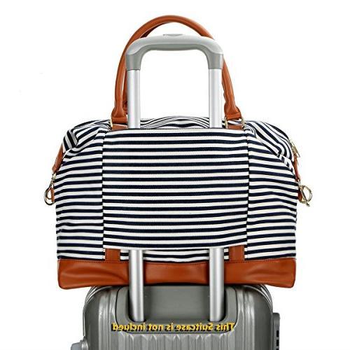 BAOSHA Canvas Overnight Carry-on Bag Strap