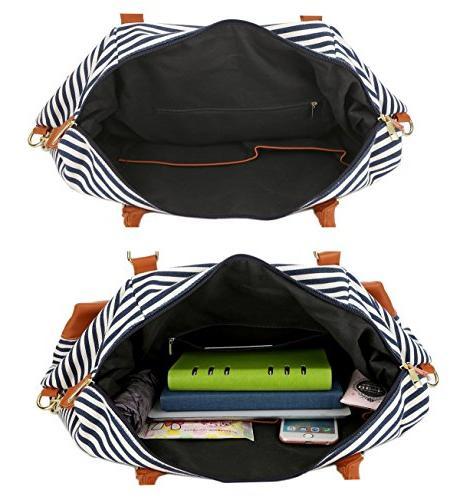BAOSHA Ladies Canvas Weekender Bag Strap