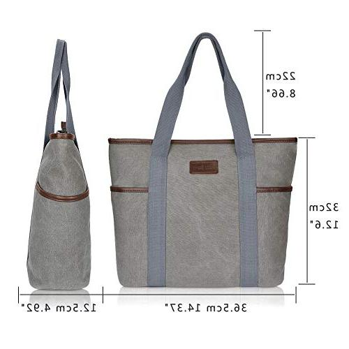 Canvas Bag for Women,Sunny Snowy Large Bags,Work