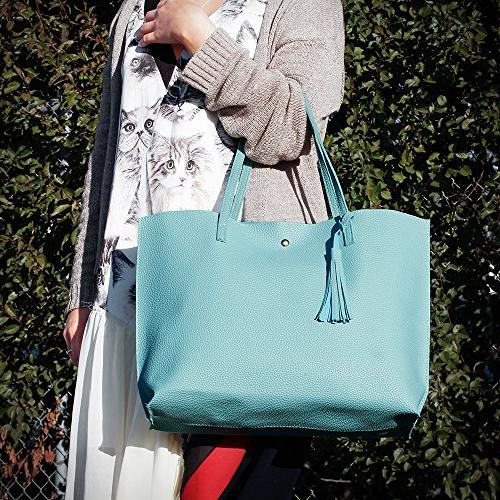 OCT17 Women Bag - Tassels Faux Leather Handbags, Ladies Purses Bags - Pink