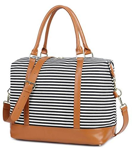 Women Ladies Canvas Bag Duffel in Handle