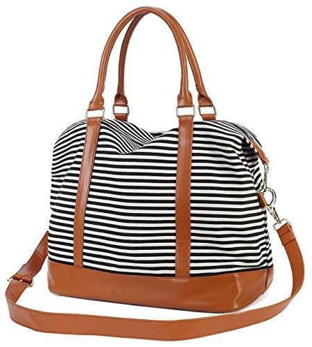 Women Ladies Weekender Bag Duffel in Trolley Handle