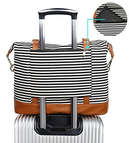 Women Weekender Bag Overnight Duffel in Trolley