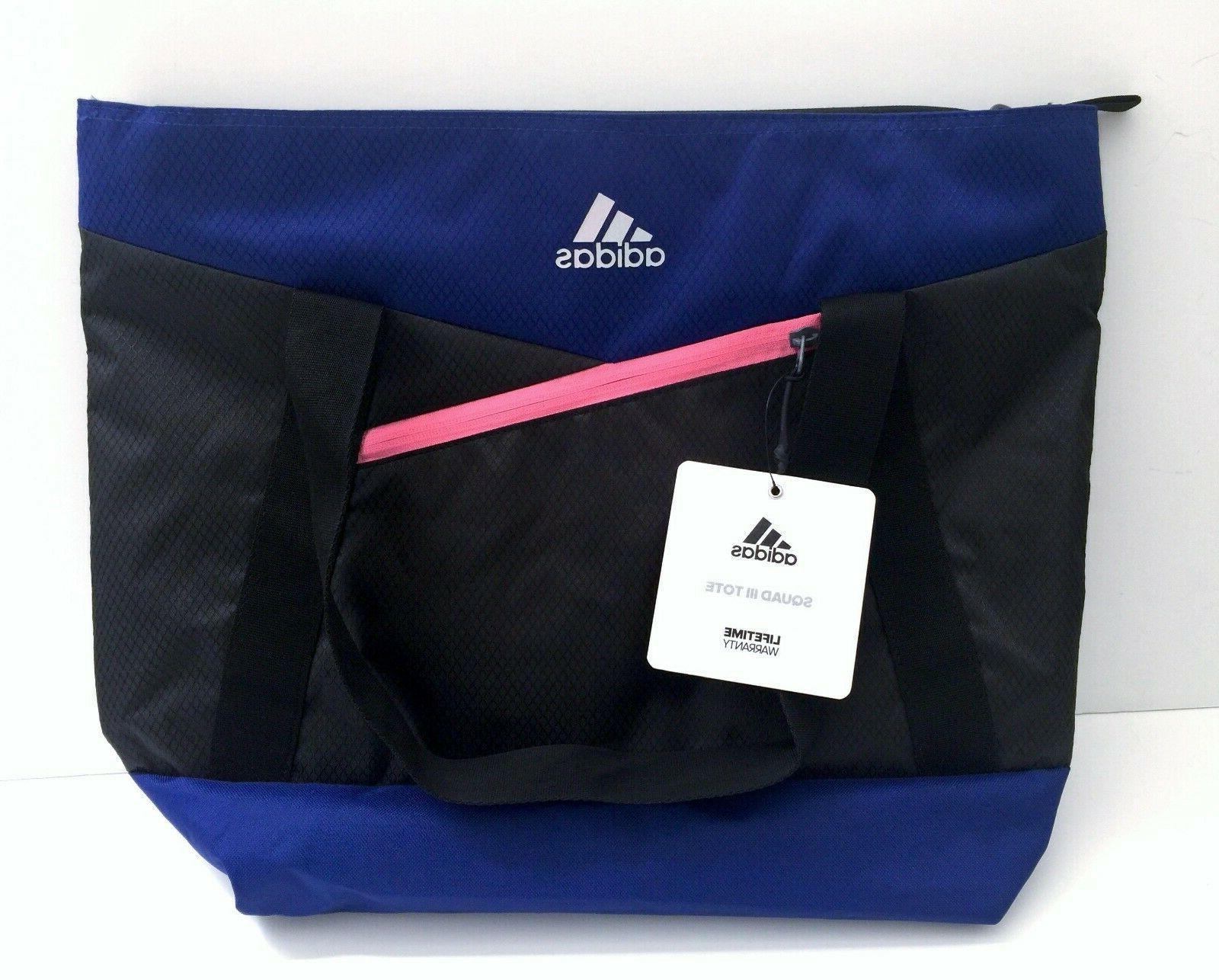 adidas Squad Tote Bag, Onix Jersey/Collegiate Blue/Bahia Mag