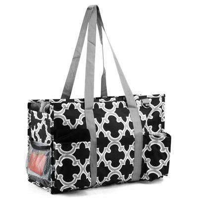 All Purpose Zip Travel Laundry Shopping Utility Bag Black