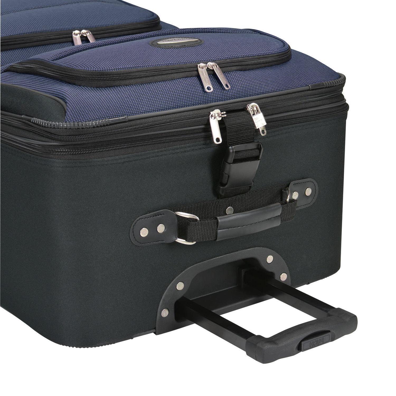 Amsterdam 2pc Rolling Luggage Suitcase Bag Travel Set