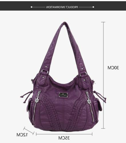 Angelkiss Brand Satchel Tote Bag Leather