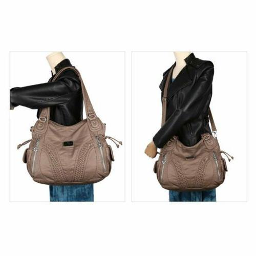 Angelkiss Women Brand Purses Satchel Bag Leather