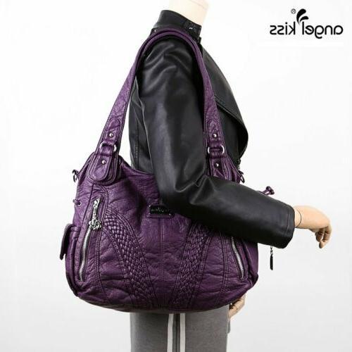 Angelkiss Satchel Handbags Bag Leather