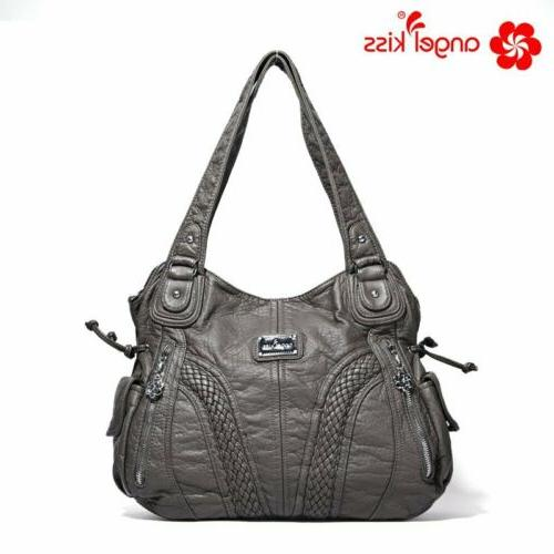 Angelkiss Brand Satchel Bag Leather