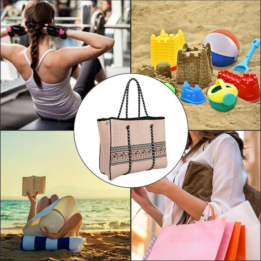 Anne Gene Multipurpose Neoprene Women Beach Tote Bag an Extra