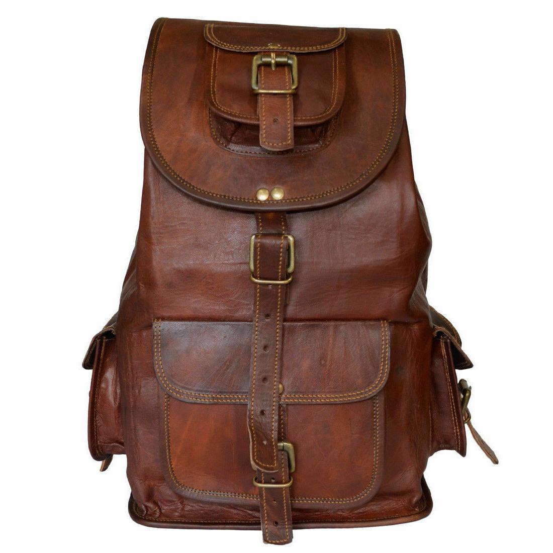 Backpack Soft Genuine Vintage Travel Shoulder
