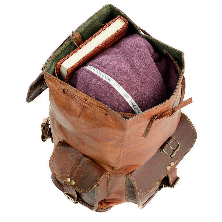 Backpack Flexible Genuine Women Travel Bags