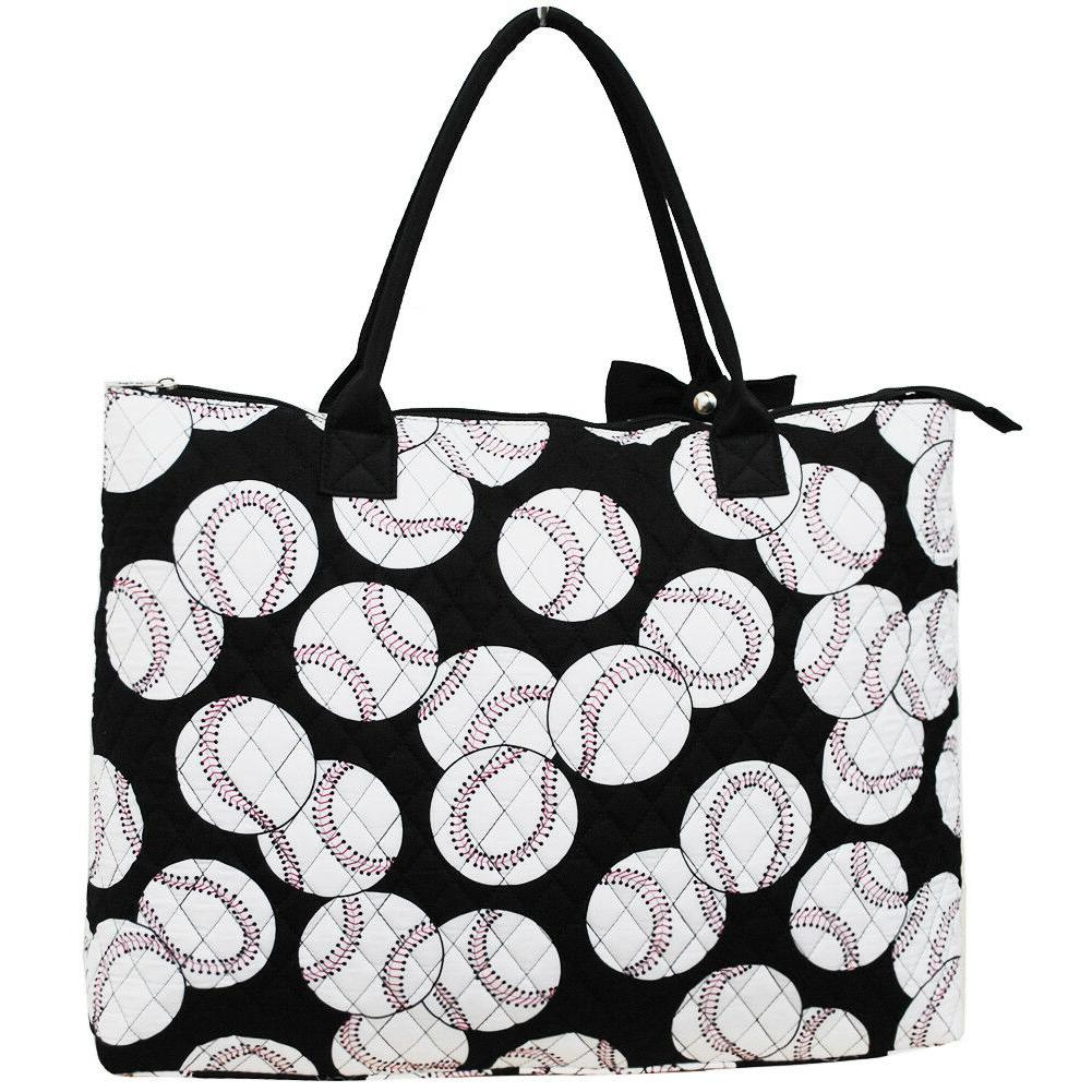 Baseball Quilted Tote Bag