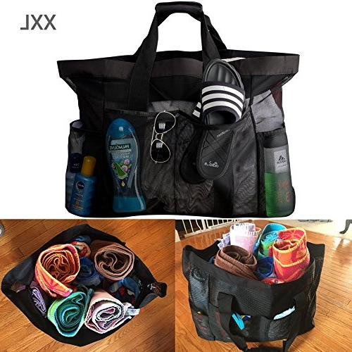 "Extra Bags and Totes / 30"" XXL Bag with & Heavy & Foldable Oversized Tote for Towels, Perfect to items"