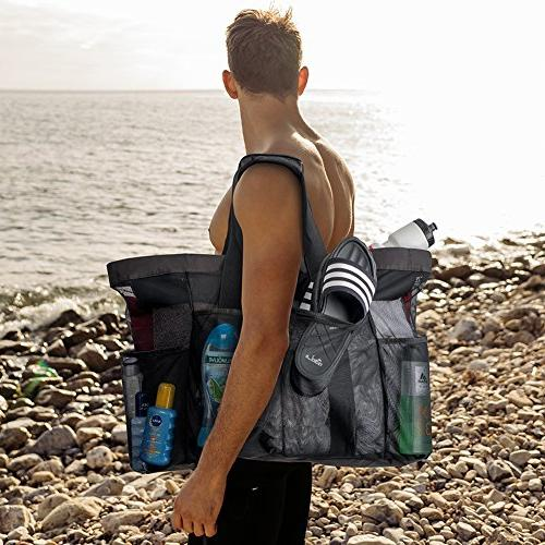 "Extra Large Beach Bags and 30"" XXL Mesh Tote Foldable - Oversized Carry Tote Perfect Carry all items"