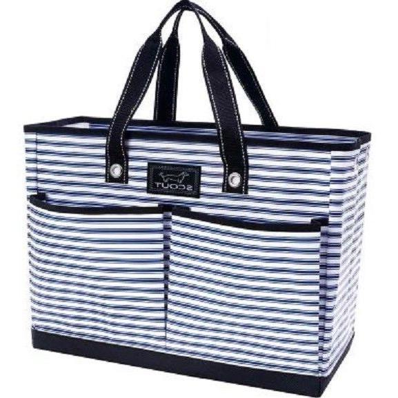 bj pocket tote bag stripe right pattern