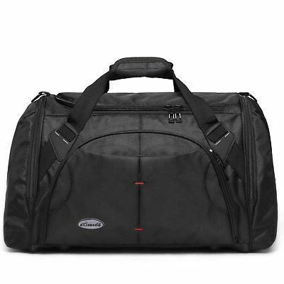 Zebella Black Travel Duffel Bags Tote Sports Gym Weekender S