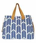 Blue Arrows Weekender Tote Bag by White Elm - Diaper Nappy B