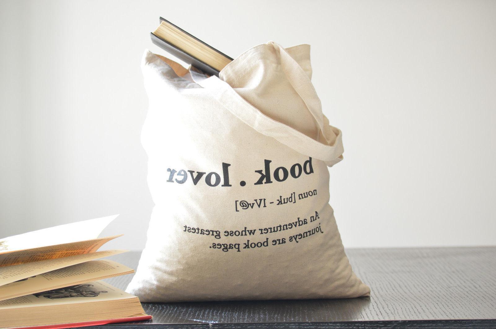 Book Cotton Bag. 100% cotton. Natural. Tote Book Lover