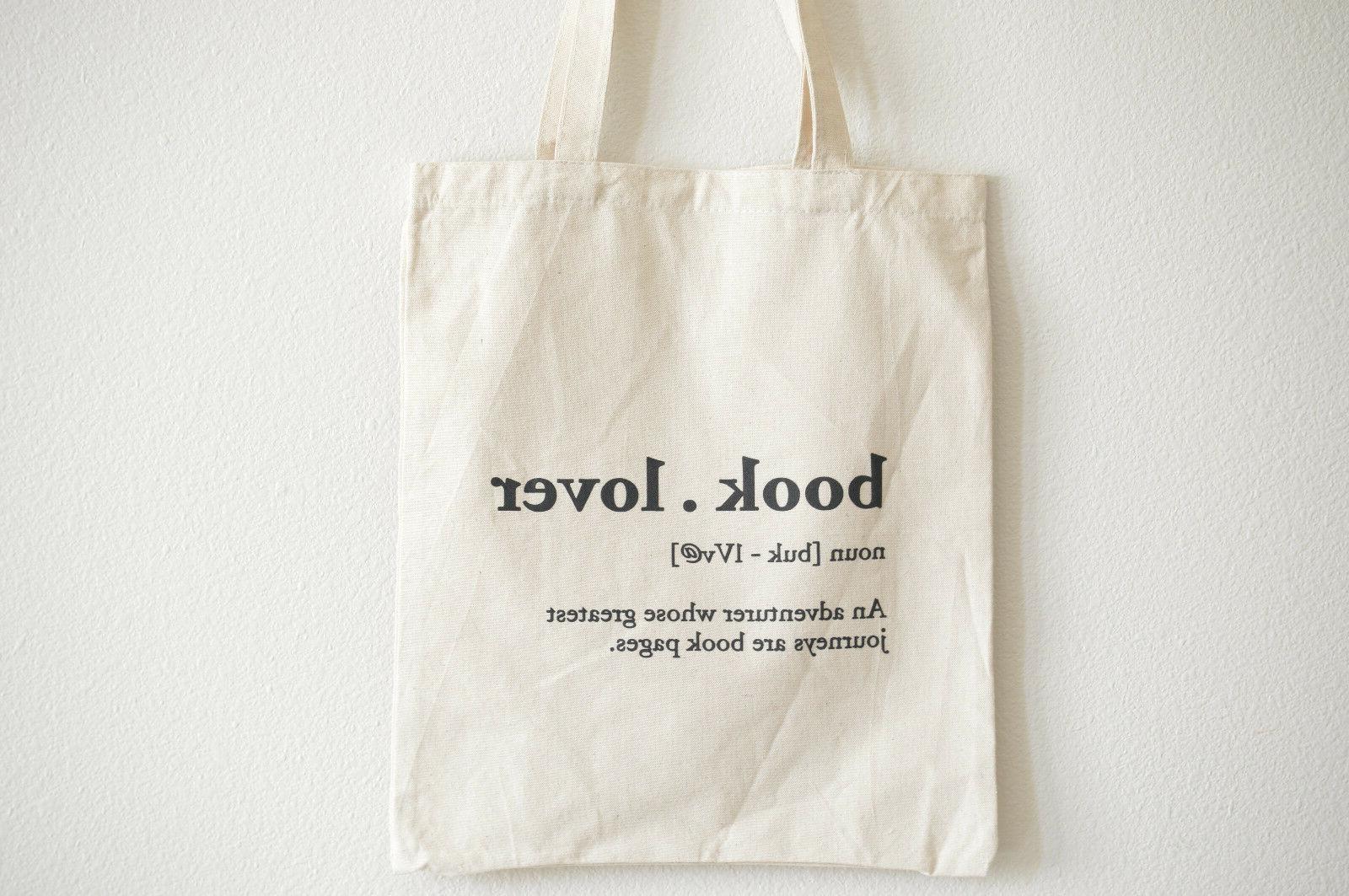 book lover cotton tote bag 100 percent