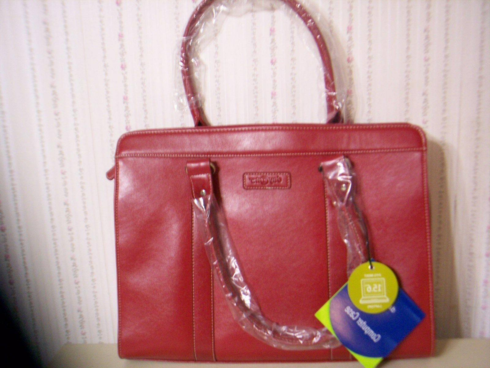 """BRAND NEW! DAY ONE """"RED"""" LAPTOP MESSENGER ACCESSORY TOTE BAG"""