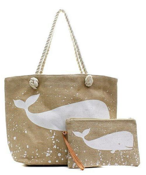 NGIL Burlap Handle Bag Travel