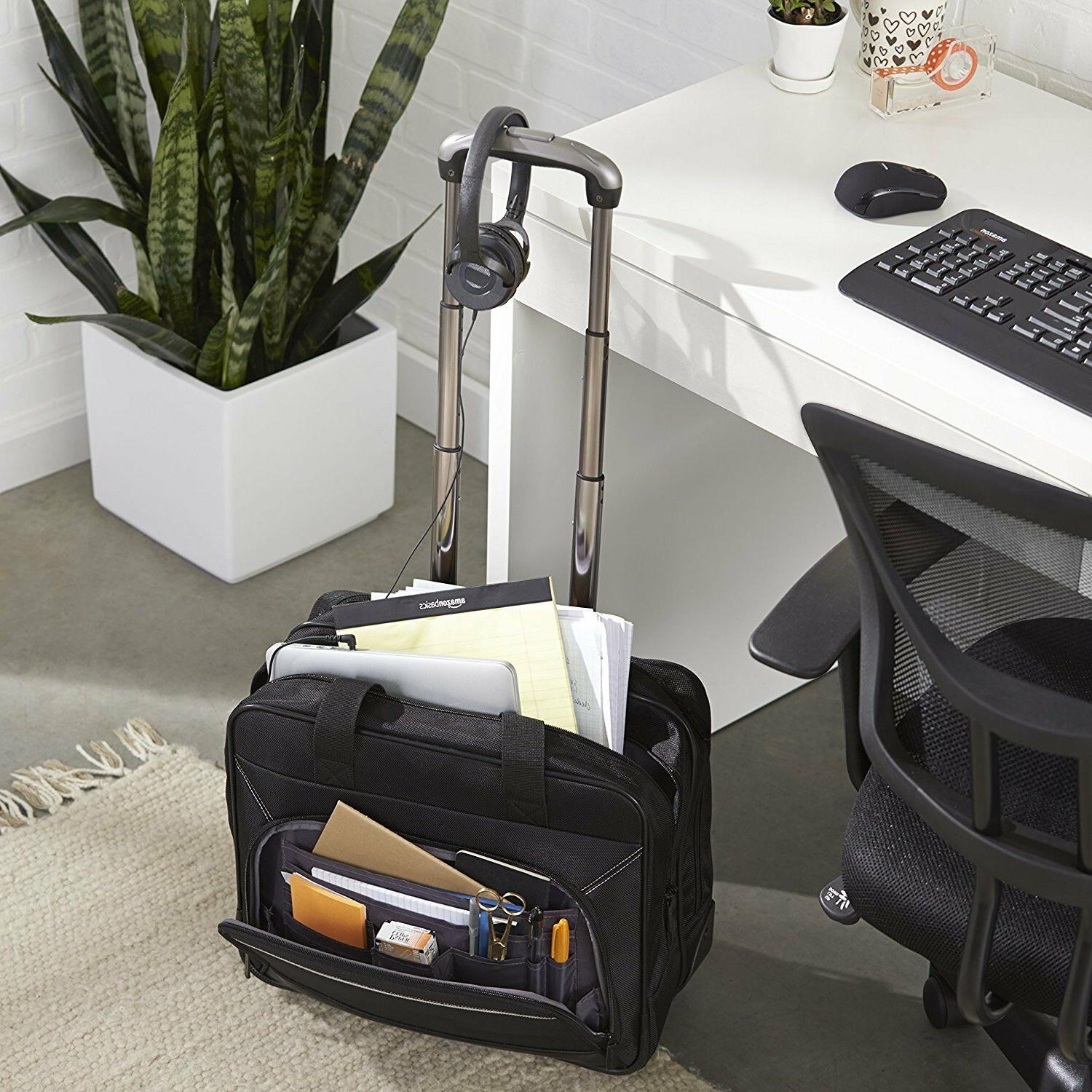 Business Tote Bag Rolling Travel Luggage Wheeled Case Laptop