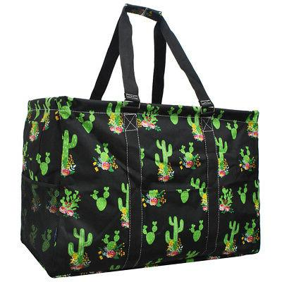 cactus mega shopping utility tote bag