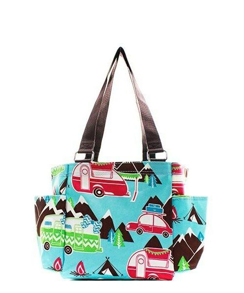 Camper Zippered canvas Tote Bag