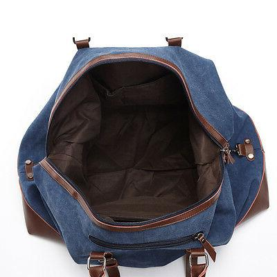 Canvas Leather Travel Bags Luggage Bags Bags Tote Weekend Bag