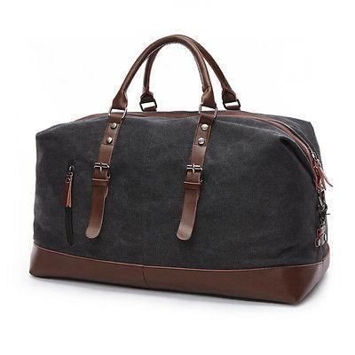 canvas leather men travel bags luggage bags