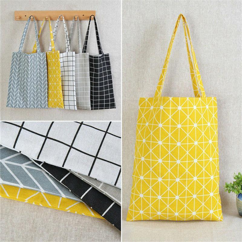 Canvas Shopping Shoulder Tote Satchel Messenger Eco Bag Star