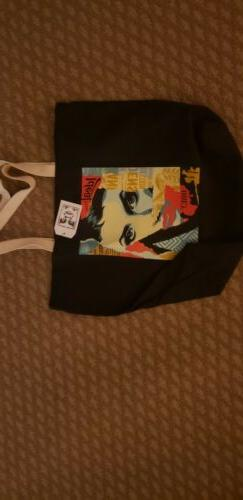 Obey Canvas Tote Bag Ideal Power Black One Size NWT