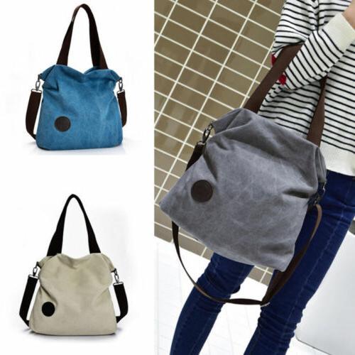 Casual Women's Hobo Canvas Handbag Retro Shoulder Bags Purse