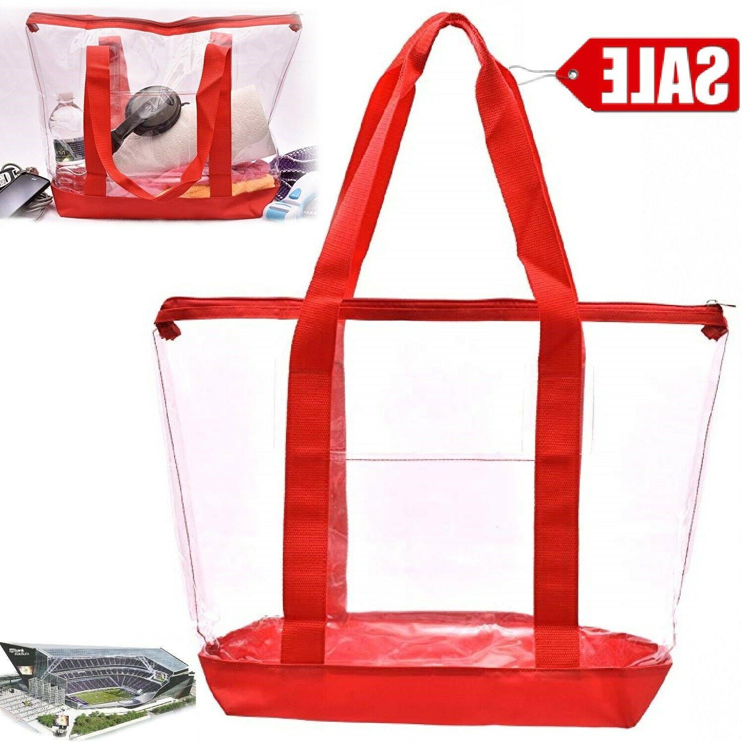 clear bag tote strong zippered