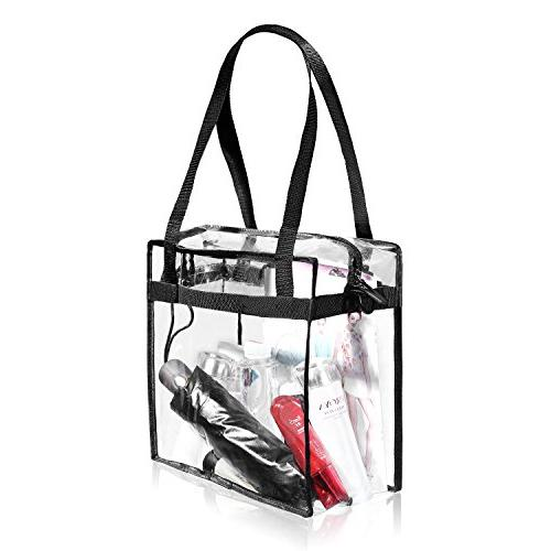 Clear NFL & PGA The Clear with Zipper Perfect for Sports Games.Cross-Body w