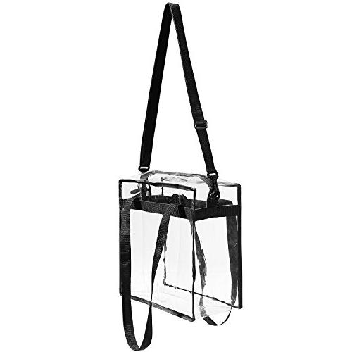 Clear Bag NFL & PGA The Clear Tote with Closure Perfect for Sports Games.Cross-Body Messenger Shoulder w X
