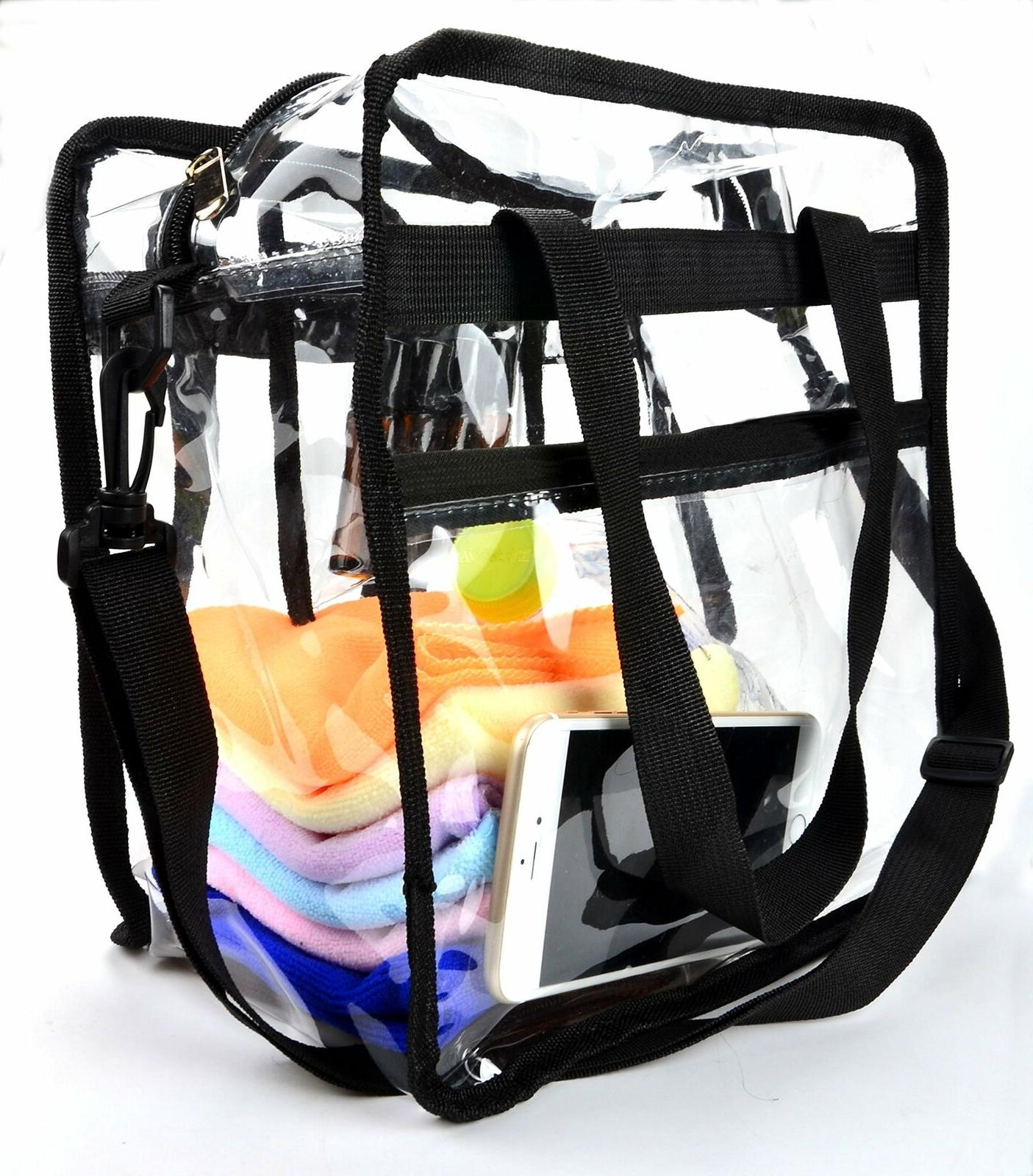 Clear Heavy Tote School Holds Up to 50lbs