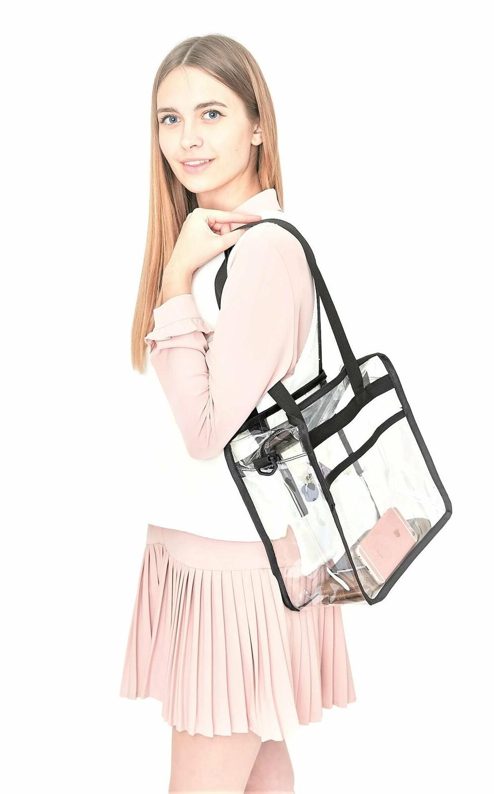 Clear Duty Plastic Tote Bag For School Up to 50lbs